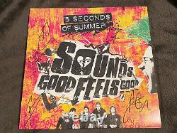 5 SECONDS OF SUMMER signed auto SOUNDS GOOD FEELS GOOD Vinyl LP 5 SOS