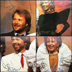 Abba Fully Signed in 1982 The Singles First Ten Years Double 12 Vinyl Promo