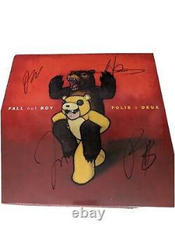 Fall Out Boy signed Folie a Duex vinyl 2 LP Set