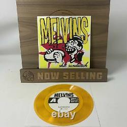 Melvins Shit Sandwich Vinyl 7 Clear Orange with Black Specks SIGNED RARE