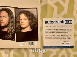 Metallica autographed Justice For All vinyl record ACOA COA #SA13067 signed by 3