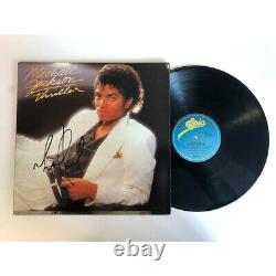 Michael Jackson Hand Signed Framed Thriller Vinyl Album Record Certificate