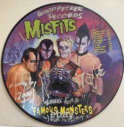 Misfits Famous Monsters vinyl picture disc Holland Signed Autograph
