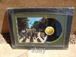Paul Mccartney Signed Abbey Road Beautifully Framed Lp Vinyl Jsa Loa