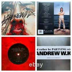 Signed Vinyl Lp Rare Andrew Wk I Get Wet Limited Red Smoke Autographed New