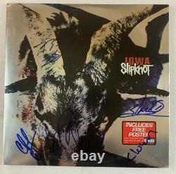 Slipknot Vinyl Hand Hand Signed Iowa Vinyl Joey Jordison Autograph Rare Coa
