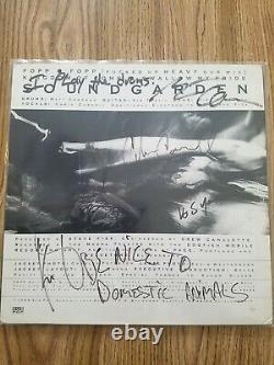 Soundgarden Fopp ultra rare VINYL BAND SIGNED CHRIS CORNELL