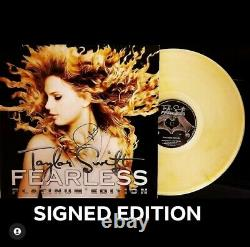 Taylor Swift Fearless SIGNED Clear/Metallic Gold Vinyl LP Record Store Day RSD
