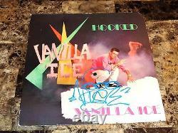 Vanilla Ice Rare Signed 12 Vinyl Record Hooked 1st Pressing 1990 Ice Ice Baby