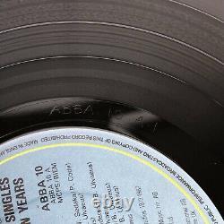 Abba Entièrement Signé En 1982 Les Célibataires Première DIX Ans Double 12 Vinyl Promo