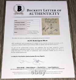 Ac/dc Signed Flick Of The Switch Vinyl Album Angus Jeunes +3 Avec Bas Loa Beckett