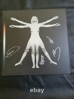 Anges Signés Autographiés Et Ondes D'air Formes De Vie Bone Black Splatter Vinyl Lp