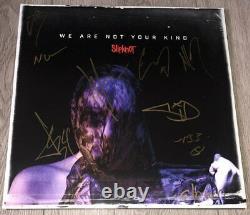 Autographe Signé Slipknot X9 Nous Ne Sommes Pas Votre Genre Album De Vinyle Corey Taylor +8