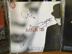 Autographié Signé Alkaline Trio Alk3 Matt Skiba Vinyl Nofx Blink 182 Oop Lot