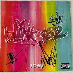 Blink 182 Travis Barker Jsa Signé Autographe Album Vinyl Record Complet Signé