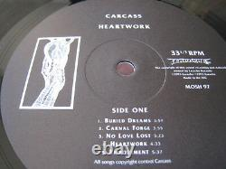 Carcass Heartwork Eu Original Vinyl Lp 1993 Copie Signée