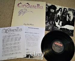 Cendrillon Long Hiver Froid Signé Album De Vinyle Autographié Tom Keifer Press Kit