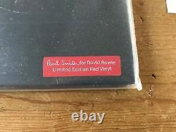 David Bowie The Next Day Red 2x Lp Vinyl Signé Par Paul Smith Seulement 80 Exemplaires