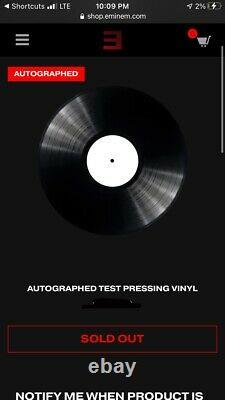 Eminemmusic To Be Murdered Bysigned Record Vinyltest Pressingsold Outrare