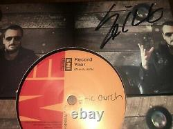 Eric Church Record Year Autographié Promotion 45 Vinyl! Extrêmement Rare