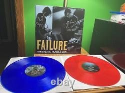Failure Band Planet Fantastique Live 180g Double Rouge Blue Vinyl Signé Enregistrement Rare