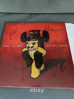 Fall Out Boy A Signé Folie A Duex Vinyle 2 Lp Set