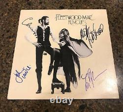 Fleetwood Mac A Signé L'album Vinyle Dédicacé Rumours Proof 1