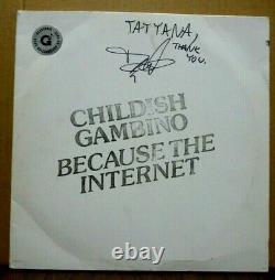 Gambino De L'enfant Parce Que L'internet 2-lp Signé Vinyle Rouge Numéro 41/800 Nice