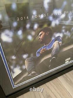 J Cole Autographe Signé 2014 Forest Hills Drive Vinyl Record Lp Framed! Jsa Coa