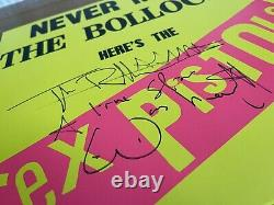 John Lydon Signed Never Mind The Bollocks Lp Vinyl Sex Pistols Johnny Rotten Nouveau