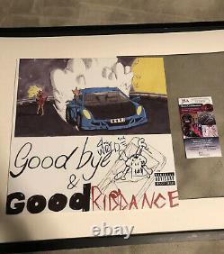 Juice Wrld Autograph Goodbye And Good Riddance Signed Vinyl Jsa Coa Rare Sketch