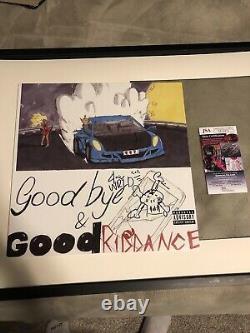 Juice Wrld Signé Au Revoir Et Bonne Riddance Vinyl Jsa Coa Avec Un Sketch Rare
