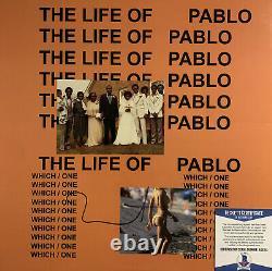 Kanye West A Signé Vinyl Beckett Coa The Life Of Pablo Tlop Album Record Bas