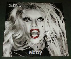 Lady Gaga Signé Autographied Born This Way Vinyl Album Couver Lp Proof Coa