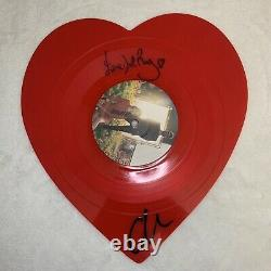 Lana Del Rey The Weeknd Signed Love/lust For Life 10 Heart Vinyl Autograph Rare