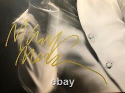 Marilyn Manson Rare Signé L'empereur Pale Grey Vinyl Lp Record Withproof
