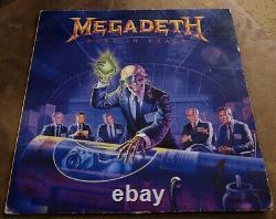 Megadeth Rust In Peace Autographed Uk Vinyl 1990 Signé Capitol Est2132