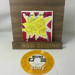 Melvins Shit Sandwich Vinyl 7 Orange Clair Avec Des Taches Noires Signed Rare