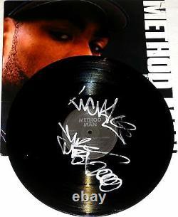 Méthode Man Wu-tang Clan Hand Signed Autographed Vinyl Enregistrement Album! Rayons! Avec Le Coa