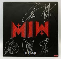 Motionless En Bande Blanche Autographié Lp Vinyl Record Signé (voir Détails)
