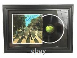Paul Mccartney A Signé The Beatles Abbey Road Vintage Vinyl Framed Jsa Loa