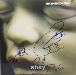 Rammstein A Signé Autographied Mutter Vinyl Album Till Lindemann Richard ++ Coa