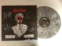 Seether Autographied Signé Si Vis Pacem Grey Vinyl Lp Album Jsa Coa # Jj30484