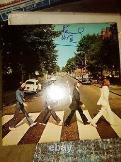 Signé Paul Mccartney Abbey Road Autographe Vinyl Record Jsa Loa