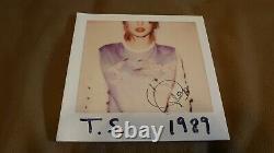 Taylor Swift 1989 Black Vinyl Lp Big Machine Records Signed New Sealed