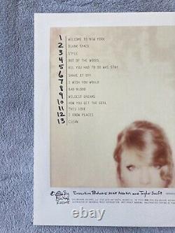 Taylor Swift 1989 Pink Vinyl Signé. Ultra Rare. Seulement 250 Dans Le Monde. Menthe