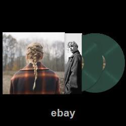 Taylor Swift Evermore Album Deluxe Edition 2xlp Vinyl + CD Folklore Autographié