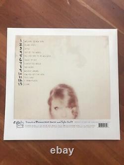 Taylor Swift Signé 1989 Album Vinyl Singer Red Lover Me Folklore Red