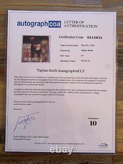Taylor Swift Signé Vinyle Rouge Avec Inscription Certifié Apeca