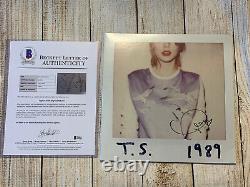 Taylor Swift Signed Autograph 1989 Vinyl Record Album Beckett Authentifié Bas